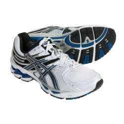 Asics GEL-Kayano 16 Running Shoes (For Men) in White/Royal/Lightning