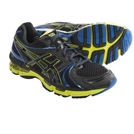 Asics GEL-Kayano 18 Running Shoes (For Men) in Onxy/Black/Lime