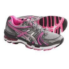 ASICS GEL-Kayano 18 Running Shoes (For Women) in Titanium/Hot Pink/Lightning - Closeouts