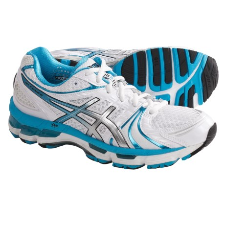 Asics GEL-Kayano 18 Running Shoes (For Women) in Electric Purple/Silver/Pink