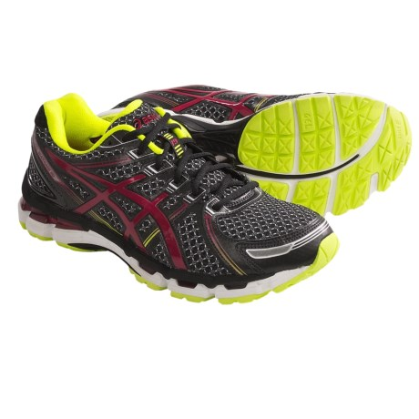 Asics GEL-Kayano 19 Running Shoes (For Men) in Black/Red/Lime