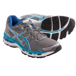 Asics Gel-Kayano 19 Running Shoes (For Women) in Lightning/Turquiose/Iris