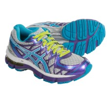 ASICS GEL-Kayano 20 Running Shoes (For Little and Big Kids) in Platinum/Island Blue/Lime - Closeouts