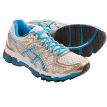 Asics GEL-Kayano 20 Running Shoes (For Women) in White/Island Blue/Melon - Closeouts