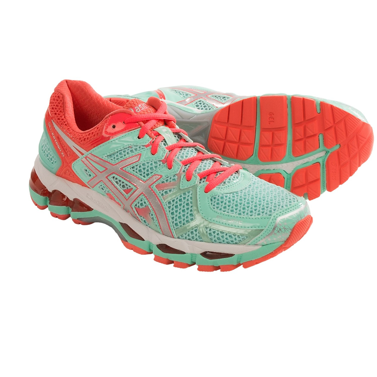 asics gel kayano 21 running shoes for women in beach glass silver diva pink. Black Bedroom Furniture Sets. Home Design Ideas
