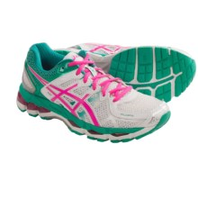 ASICS GEL-Kayano 21 Running Shoes (For Women) in White/Hot Pink/Emerald - Closeouts