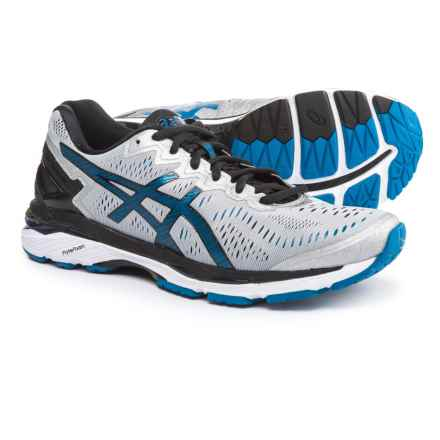 ASICS GEL-Kayano 23 Running Shoes (For Men) in Silver/Imperial/Black - Closeouts