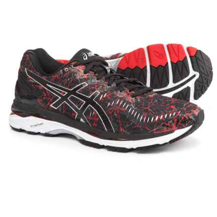 ASICS GEL-Kayano 23 Running Shoes (For Men) in Vermilion/Black/Silver - Closeouts