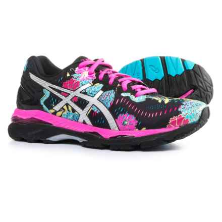 ASICS GEL-Kayano 23 Running Shoes (For Women) in Black/Silver/Pink Glow - Closeouts