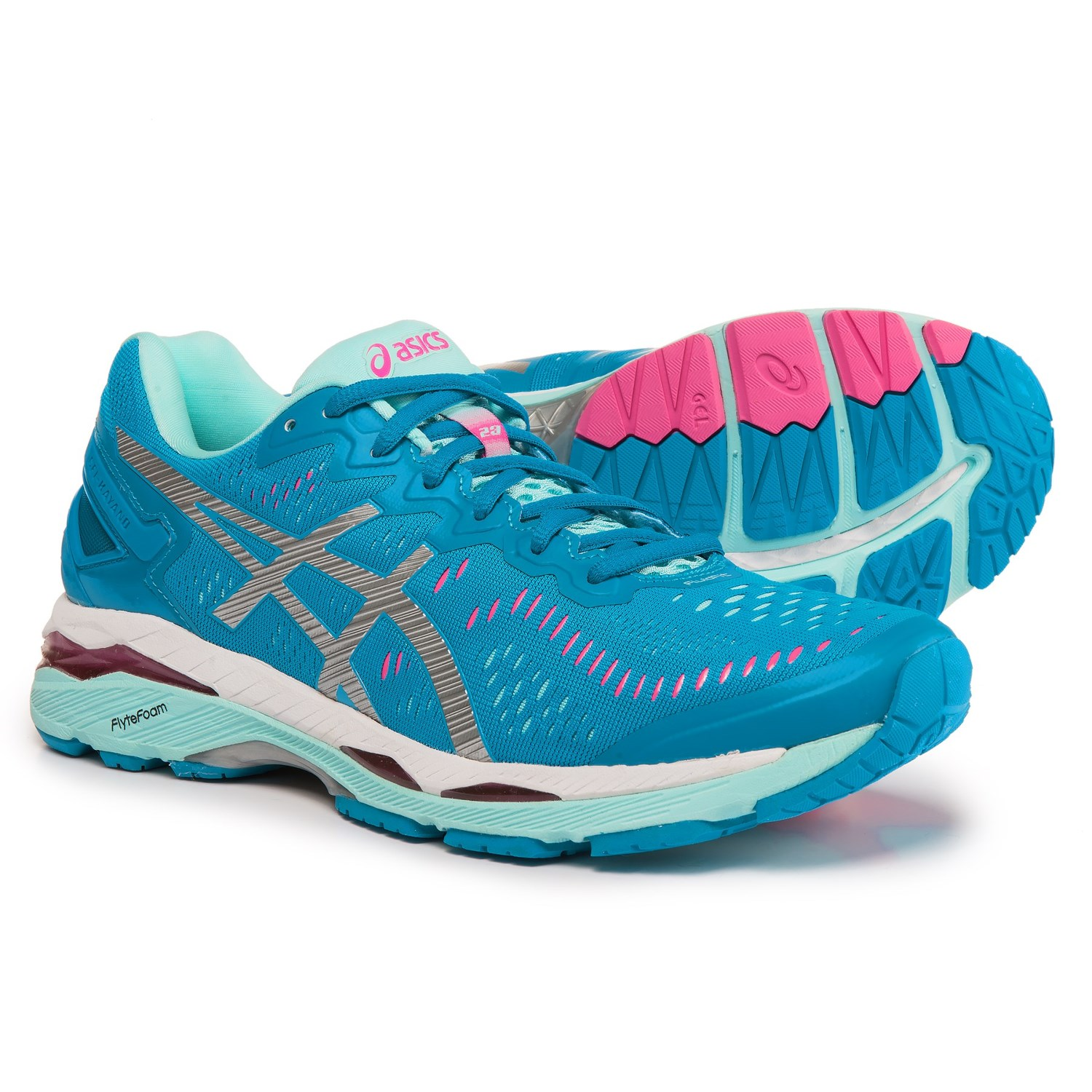 ASICS GEL-Kayano 23 Running Shoes (For Women) in Diva Blue/Silver
