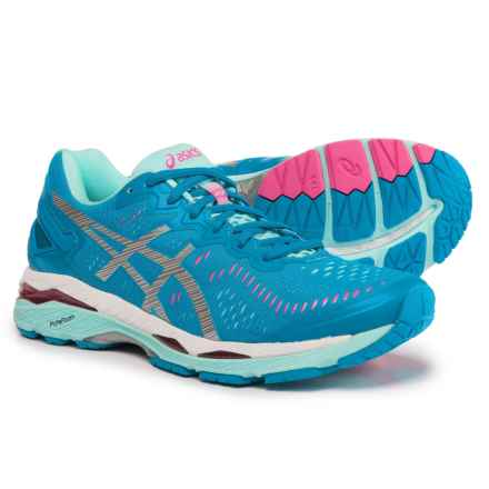 ASICS GEL-Kayano 23 Running Shoes (For Women) in Diva Blue/Silver/Aqua Splash - Closeouts