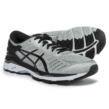 ASICS GEL-Kayano 24 Running Shoes (For Men) in Silver/Black/Mid Grey - Closeouts