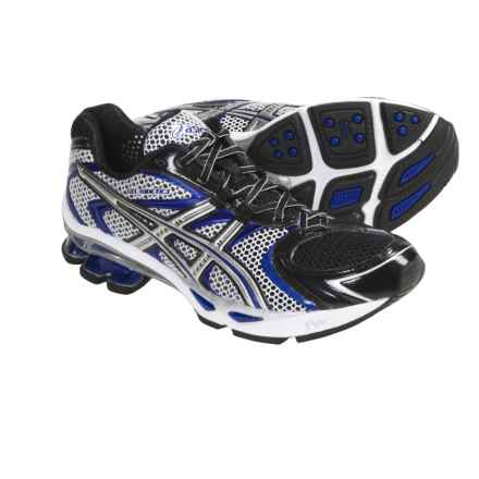 Asics GEL-Kinetic 3 Running Shoes (For Men) in Black/Lightning/Royal - Closeouts