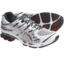 Asics GEL-Kinetic 4 Running Shoes (For Men) in White/Lightning/Flame - Closeouts