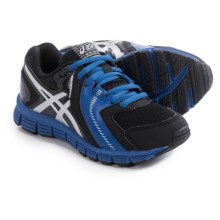 ASICS GEL-Lil' Craze Running Shoes (For Little and Big Kids) in Black/Silver/Royal - Closeouts