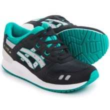 ASICS GEL-Lyte III GS Running Shoes (For Big Kids) in Black/Light Grey - Closeouts