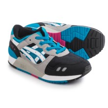 ASICS GEL-Lyte III GS Running Shoes (For Little and Big Kids) in Black/White/Grey/Teal - Closeouts