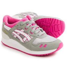 ASICS GEL-Lyte III GS Running Shoes (For Little and Big Kids) in Light Grey/White - Closeouts