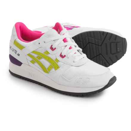 ASICS GEL-Lyte III Sneakers (For Women) in White/Purple - Closeouts
