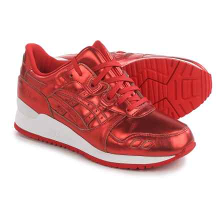 ASICS GEL-Lyte III Sneakers - Leather (For Women) in Red/Red - Closeouts