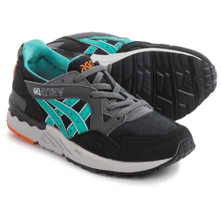 ASICS GEL-Lyte V Running Shoes (For Little and Big Kids) in Black/Latigo Grey - Closeouts