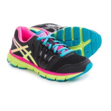 ASICS GEL-Lyte33 2 GS Running Shoes (For Little and Big Kids) in Black/Flash Yellow/Hot Pink - Closeouts