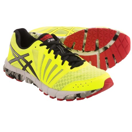 Asics GEL-Lyte33 2 Running Shoes - Minimalist (For Men) in Flash Yellow/Black/Red