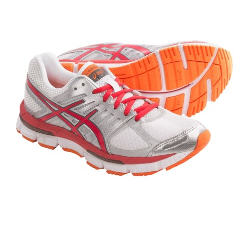Asics GEL-Neo33 2 Running Shoes (For Women) in White/Hot Punch/Flash Orange