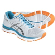 Asics GEL-Neo33 Running Shoes (For Women) in Platinum/Titanium/Neon Blue - Closeouts