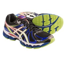 Asics Gel-Nimbus 15 Running Shoes - FluidRide (For Men) in Black/White/Multi - Closeouts