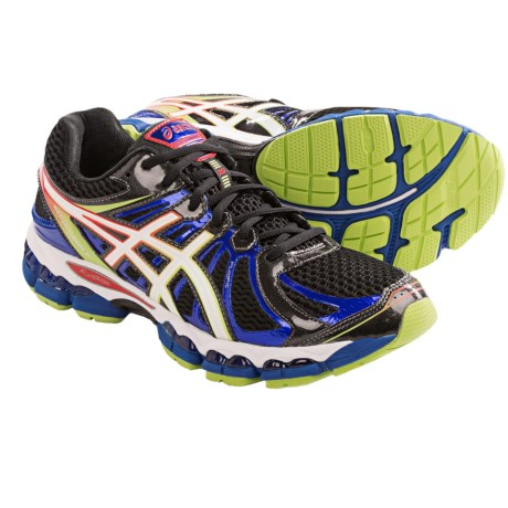 Asics Gel-Nimbus 15 Running Shoes - FluidRide (For Men) in Black/White/Multi
