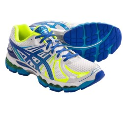 Asics Gel-Nimbus 15 Running Shoes - FluidRide (For Men) in White/Island Blue/Flash Yellow