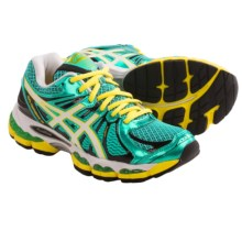 Asics Gel Nimbus 15 Running Shoes (For Women) in Green/Pearl White/Yellow - Closeouts