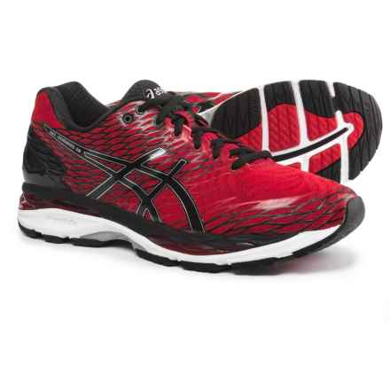 ASICS GEL-Nimbus 18 Running Shoes (For Men) in Racing Red/Silver/Black - Closeouts