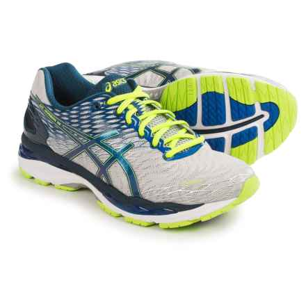 ASICS GEL-Nimbus 18 Running Shoes (For Men) in Silver/Ink/Flash Yellow - Closeouts
