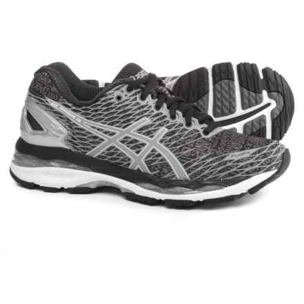 ASICS GEL-Nimbus 18 Running Shoes (For Women) in Lite-Show Black/Silver/Shark - Closeouts