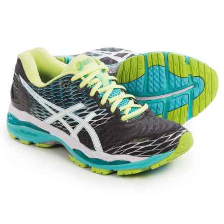 ASICS GEL-Nimbus 18 Running Shoes (For Women) in Titanium/White/Turquoise - Closeouts