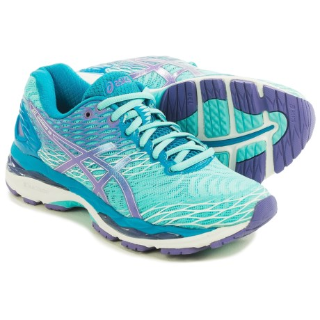 ASICS GEL-Nimbus 18 Running Shoes (For Women) in Turquoise/Iris/Methyl Blue