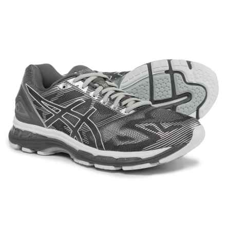 ASICS GEL-Nimbus 19 Running Shoes (For Men) in Carbon/White/Silver - Closeouts