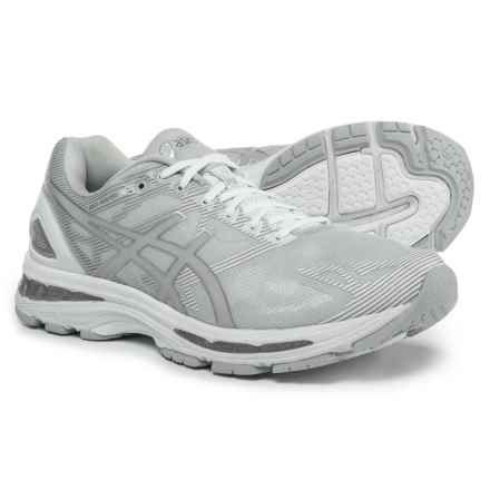 ASICS GEL-Nimbus 19 Running Shoes (For Men) in Glacier Grey/Silver/White - Closeouts
