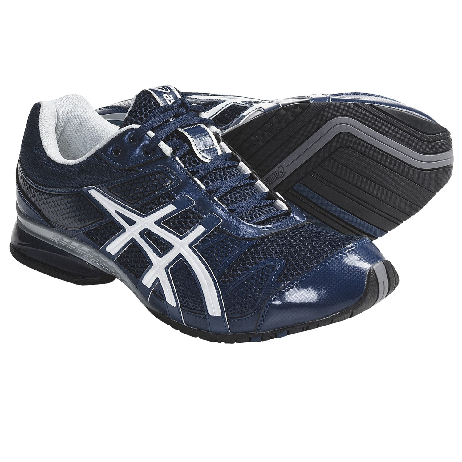 Asics GEL-Plexus Cross Training Shoes (For Men) in Navy/Silver/White