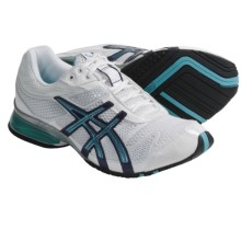 Asics GEL-Plexus Cross Training Shoes (For Women) in White/Maui Blue/Silver - Closeouts