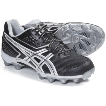 Asics GEL-Provost Low Lacrosse Shoes (For Men) in Black/Silver/White