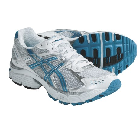 Asics GEL-Pulse 3 Running Shoes (For Women) in White/Marina Blue/Lightning