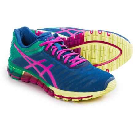 ASICS GEL-Quantum 180 Running Shoes (For Women) in Snorkel Blue/Pink Glow/Peacock Green - Closeouts