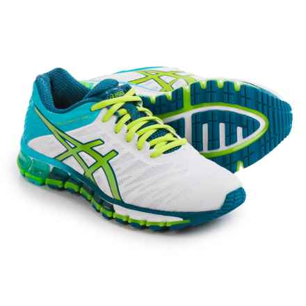 ASICS GEL-Quantum 180 Running Shoes (For Women) in White/Lime/Turquoise - Closeouts