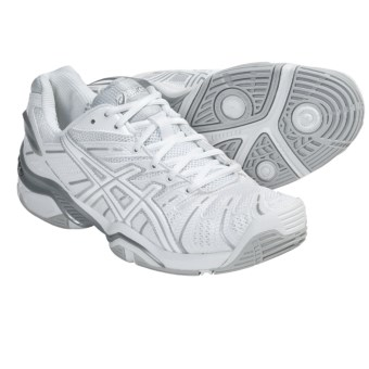 Asics GEL-Resolution 4 Tennis Shoes (For Women) in White/Silver
