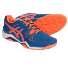ASICS GEL-Resolution 6 Clay Court Tennis Shoes (For Men) in Blue/Orange - Closeouts