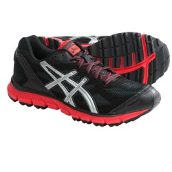 Asics GEL-Scram Trail Running Shoes (For Women) in Black/Lightning/Poppy