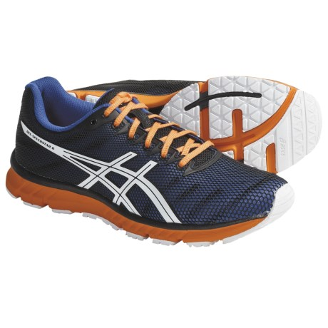 Asics GEL-Speedstar 6 Running Shoes (For Men) in Twilight/White/Electric Orange